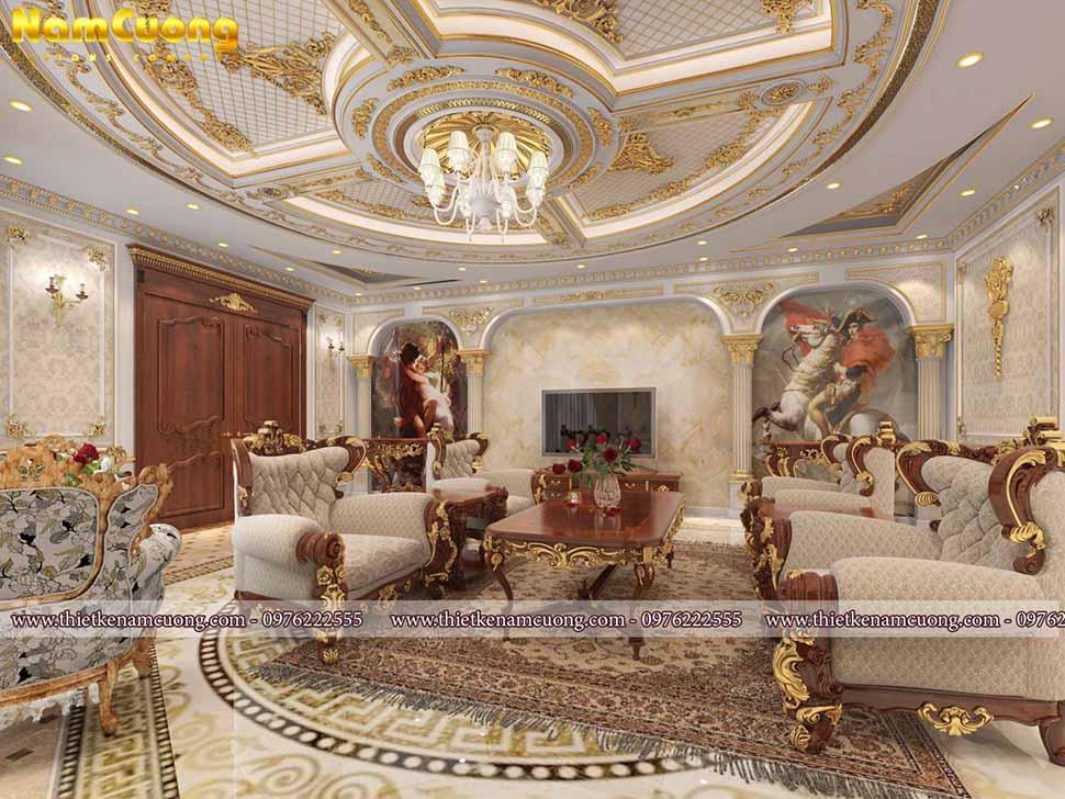 mẫu nội thất phòng khách cổ điển