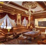 thiết kế phòng khách cổ điển đẹp