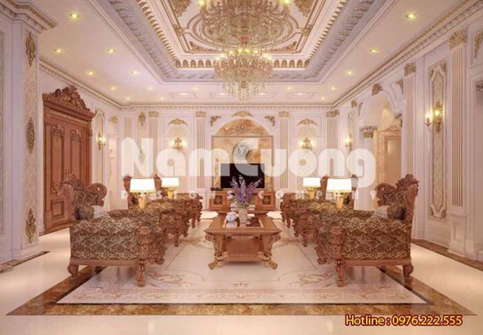 Mẫu nội thất phòng khách kiểu Pháp
