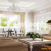 Mẫu thiết kế nội thất phòng khách tân cổ điển