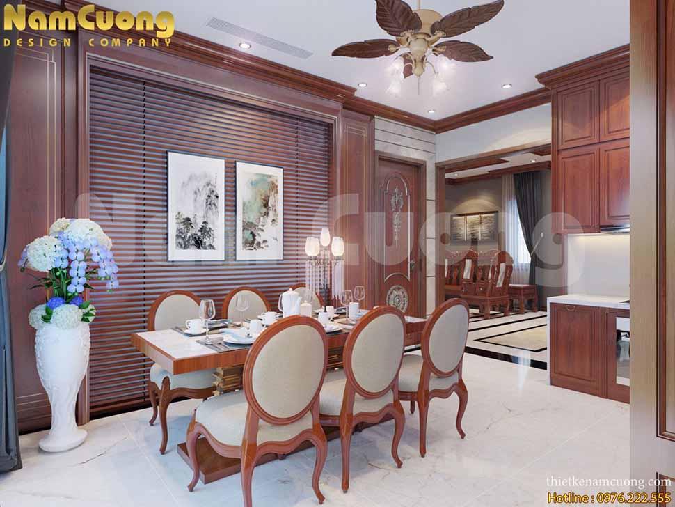 nội thất phòng khách thông bếp
