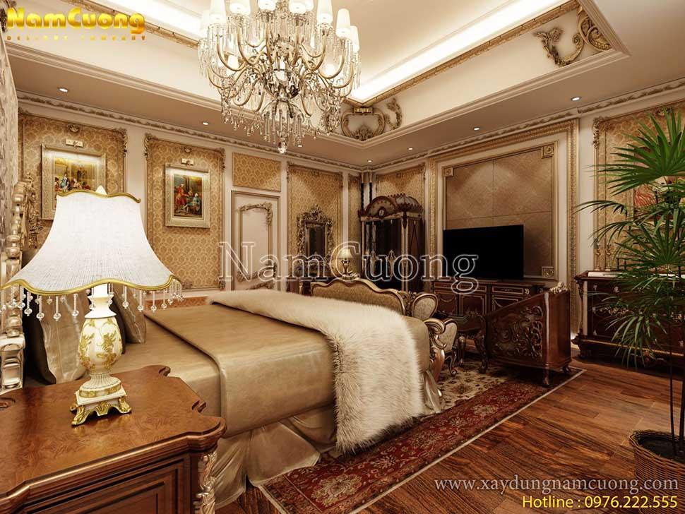 phòng ngủ lâu đài cổ