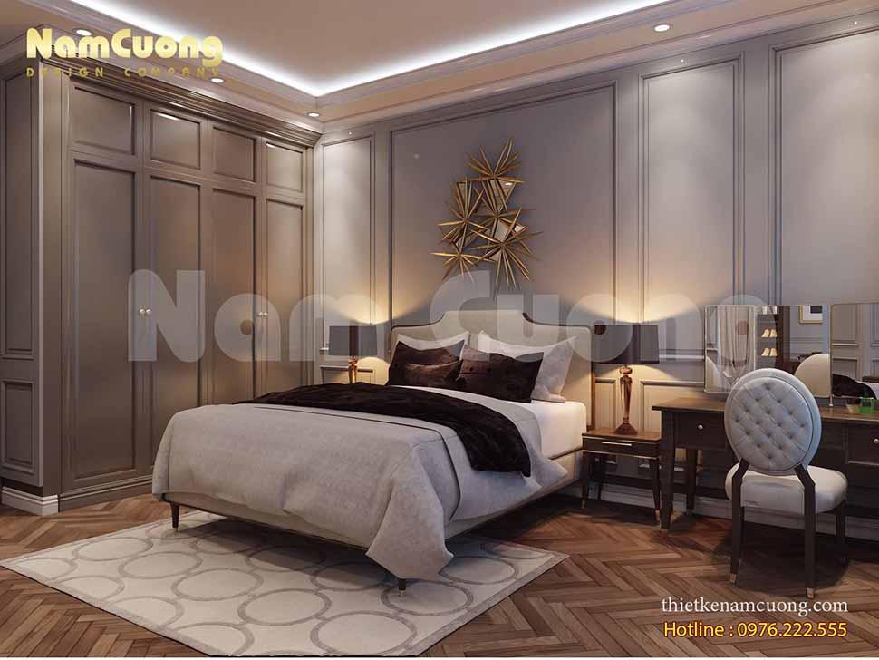 Phòng ngủ Master biệt thự tân cổ điển