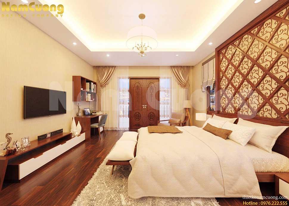 thiết kế phòng ngủ đơn giản tân cổ điển