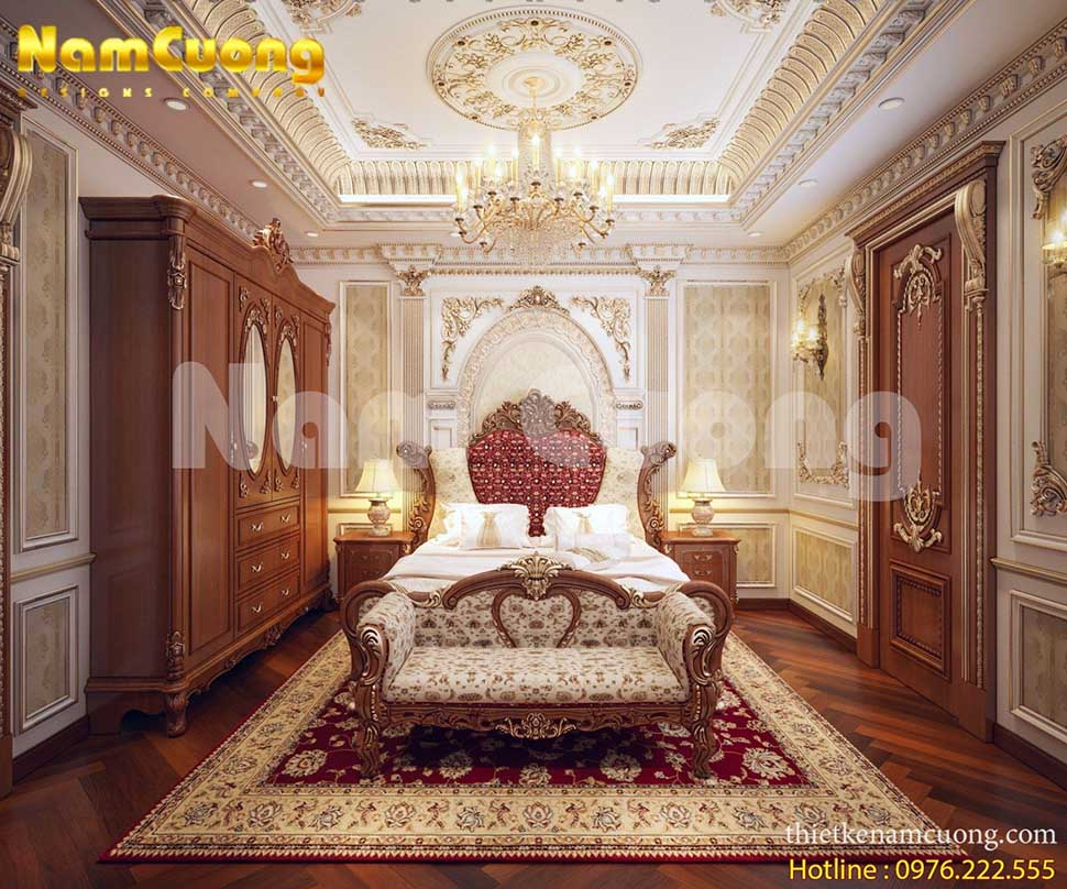 thiết kế phòng ngủ lãng mạn