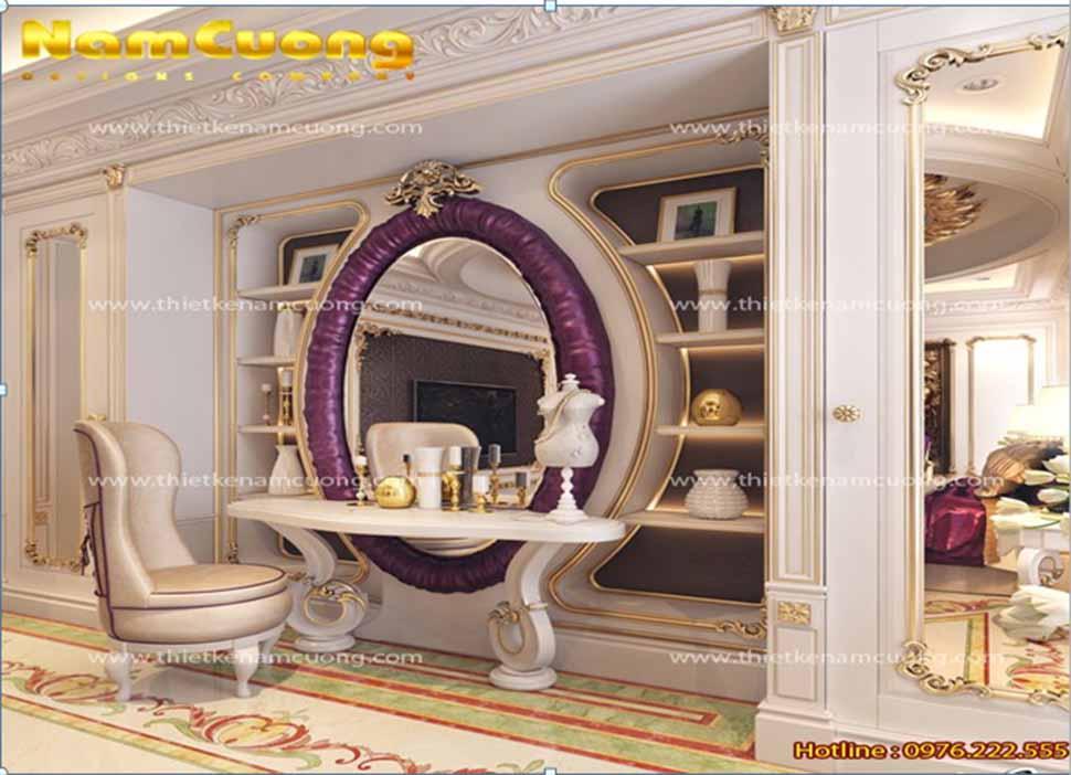 nội thất phòng ngủ rộng 40m2