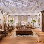 Mẫu thiết kế nội thất phòng sinh hoạt chung cổ điển