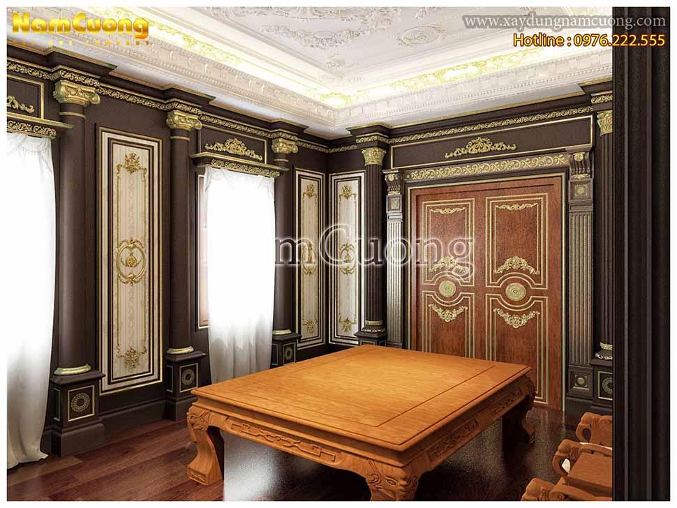 thiết kế nội thất phòng thờ gia tiên