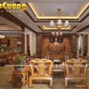 Mẫu phòng khách và phòng ăn biệt thự tân cổ điển