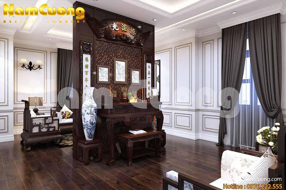 nội thất tân cổ điển gỗ công nghiệp