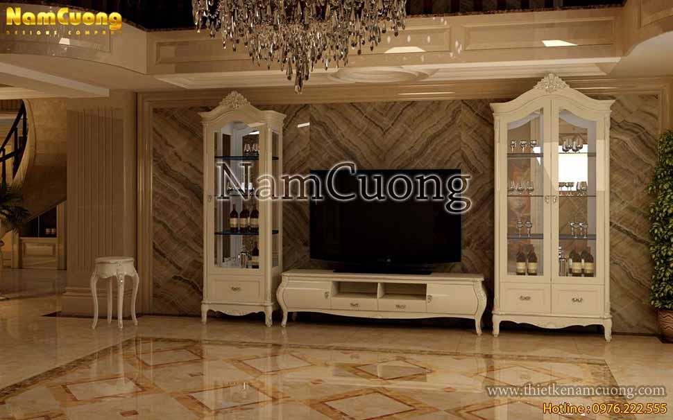 tủ tivi nội thất vintage đẹp