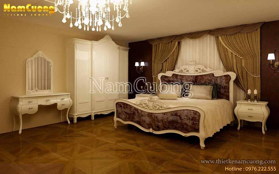 phòng ngủ nội thất vintage đẹp