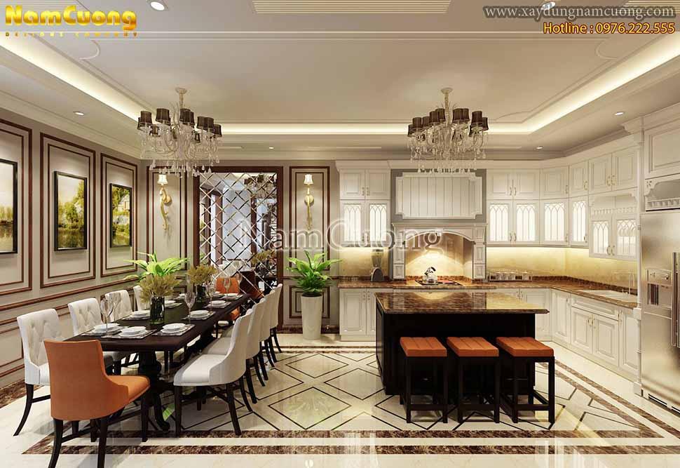 nội thất phòng khách bếp liên thông