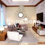 Mẫu phòng khách nội thất hiện đại trong căn hộ chung cư