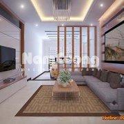 """""""Thiết kế nội thất phòng khách hiện đại rộng 24m2 """""""