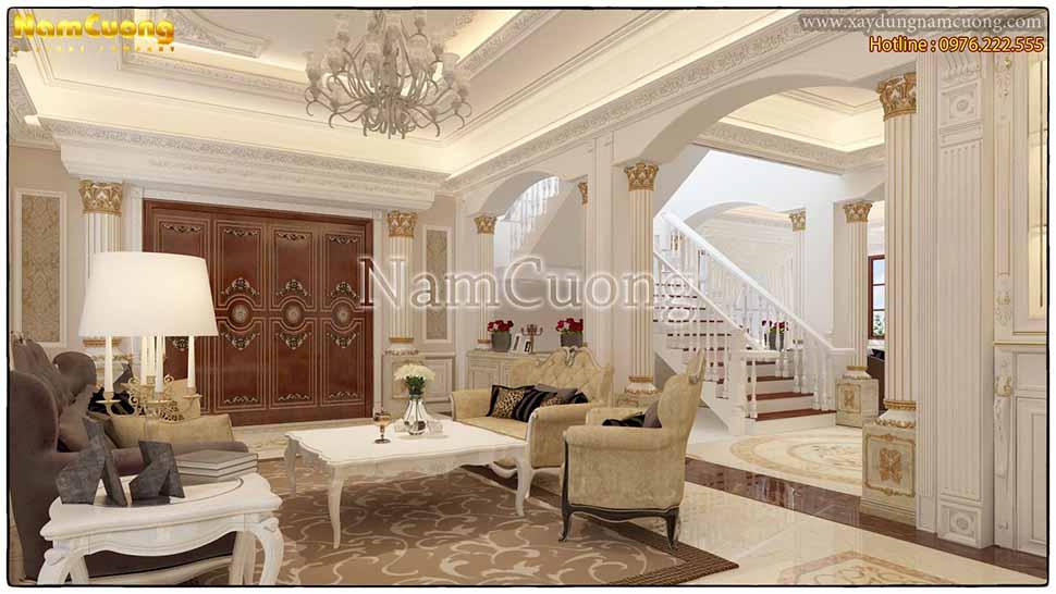 Mẫu phòng khách kiểu Pháp tại Quảng Ninh