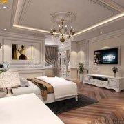Mẫu nội thất phòng ngủ 30m2 đẹp kiểu tân cổ điển