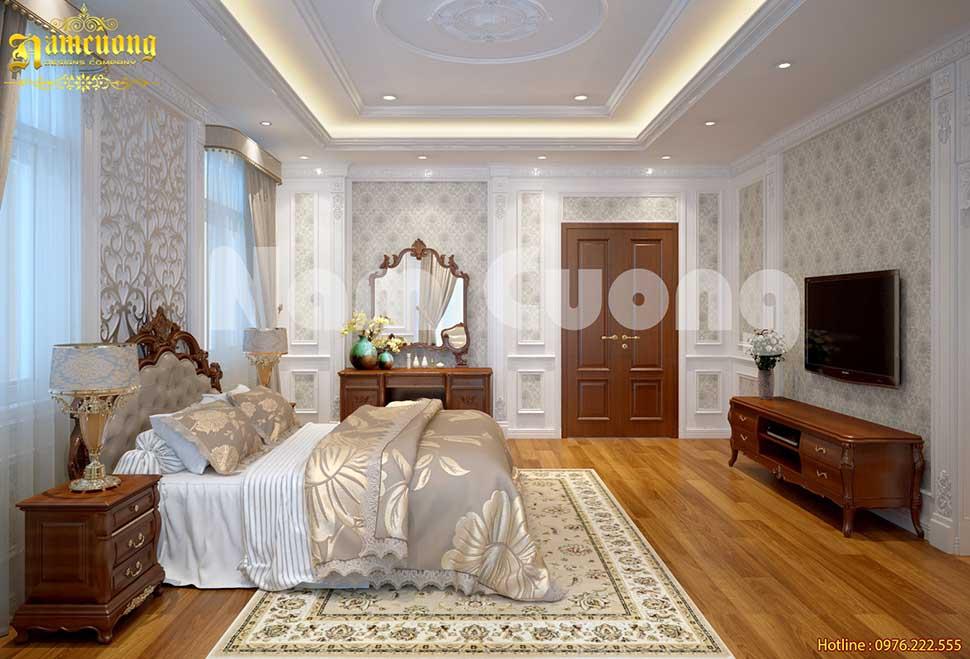 phòng ngủ bố mẹ phong cách tân cổ điển