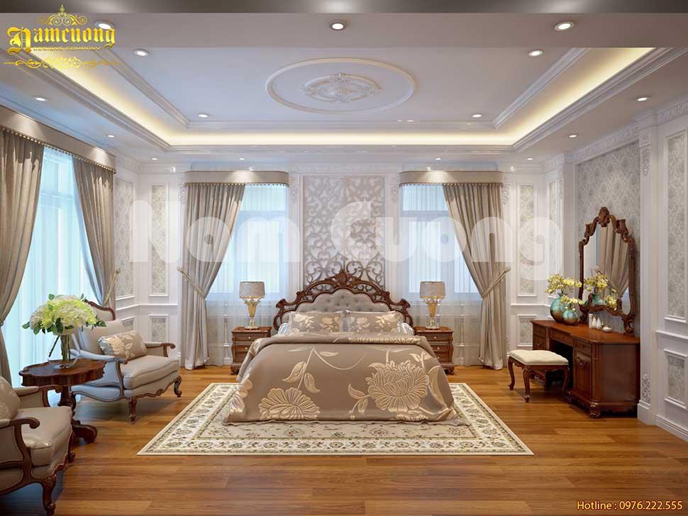 phòng ngủ bố mẹ già phong cách tân cổ điển