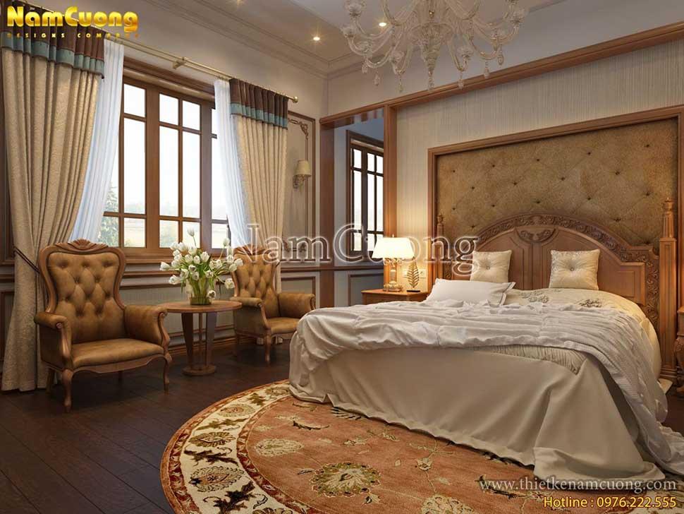 mẫu phòng ngủ có phòng khách