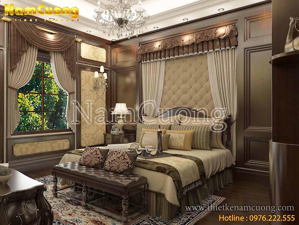 phòng ngủ bố mẹ rộng 20m2