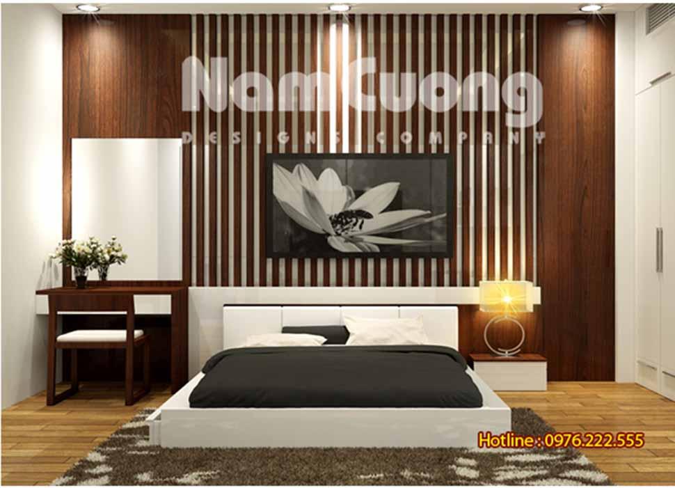 """Mẫu thiết kế nội thất phòng ngủ hiện đại 25m2 """""""