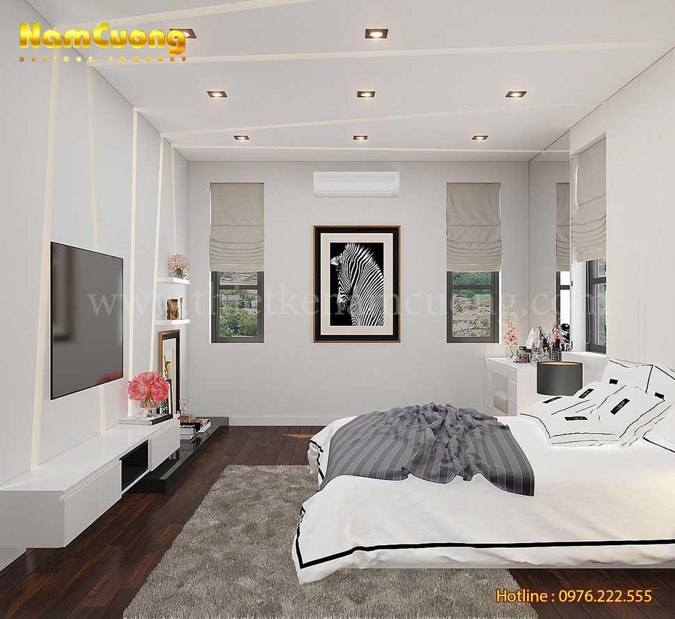 không gian phòng ngủ hiện đại 30m2