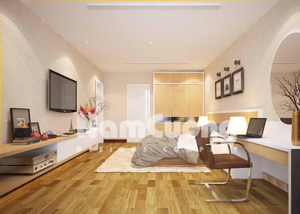 Mẫu thiết kế nội thất phòng ngủ biệt thự hiện đại tại Hải Dương
