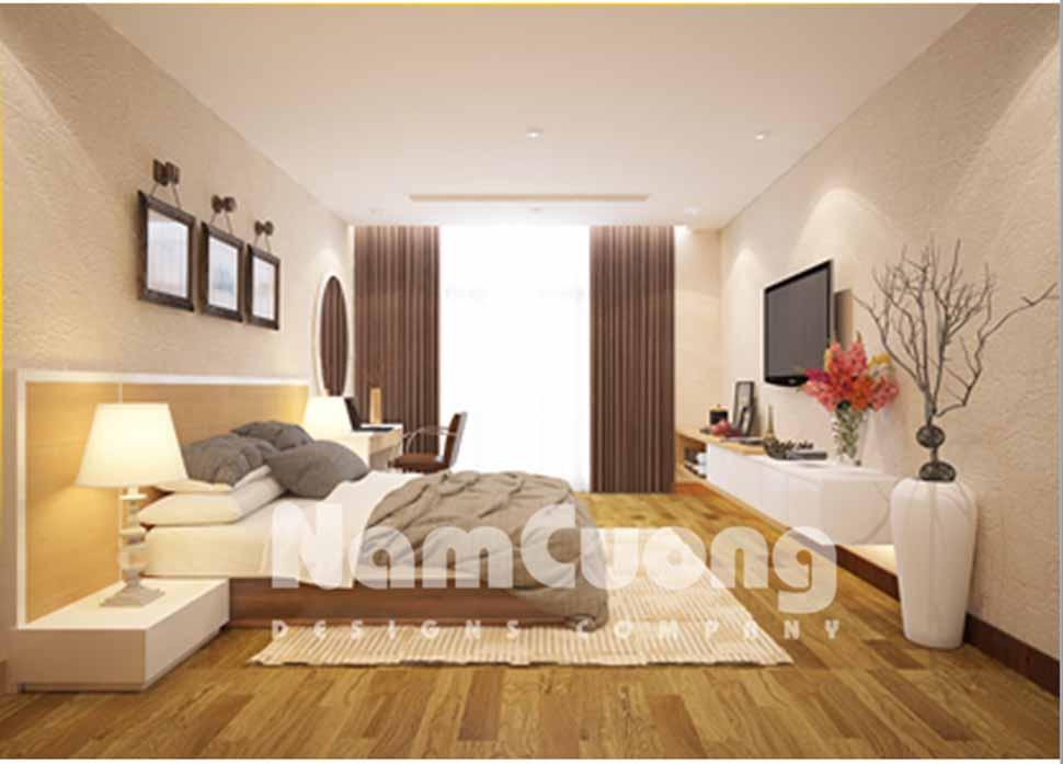 phòng ngủ hiện đại cho vợ chồng trẻ