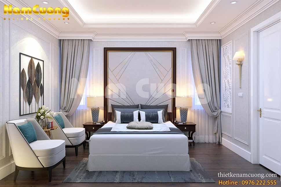 Nội thất phòng ngủ đơn khách sạn tân cổ điển