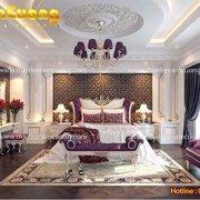 Mẫu phòng ngủ đẹp nội thất Pháp diện tích 40m2 tại Quảng Ninh