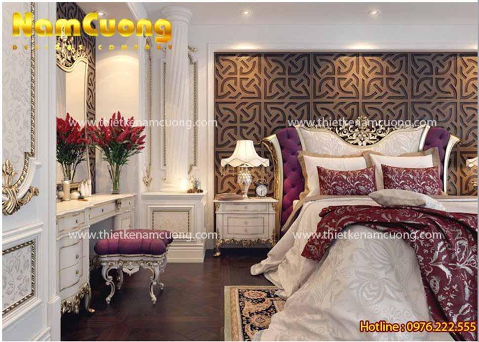 Một góc view đẹp khác của căn phòng - mẫu phòng ngủ đẹp nội thất Pháp