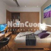Mẫu phòng ngủ thiết kế nội thất hiện đại diện tích 25m2 - PNHD 06