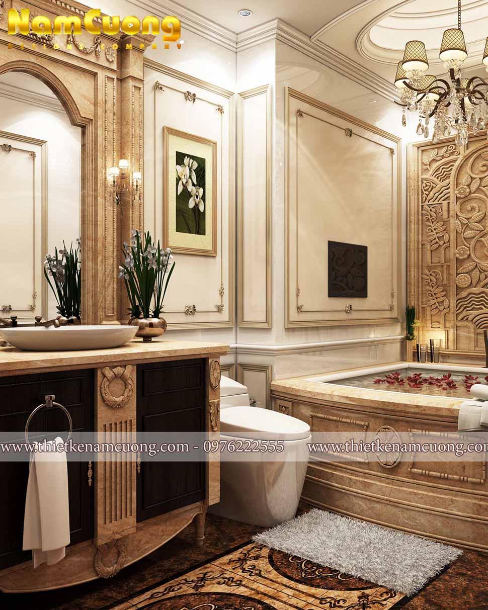 phòng tắm tân cổ điển đẳng cấp