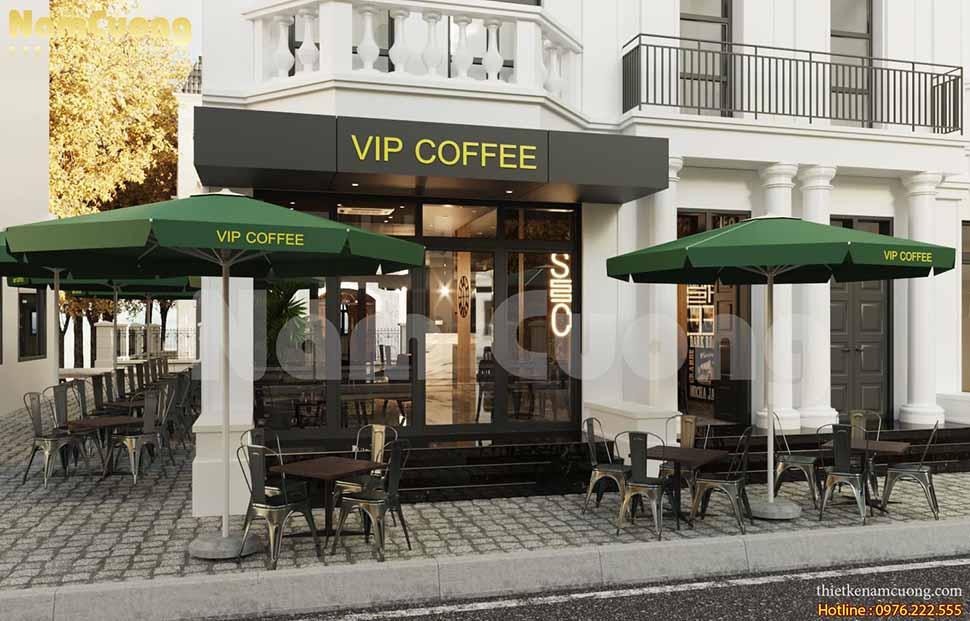 mặt tiền quán cafe đẹp