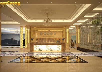sảnh khách sạn ấn tượng