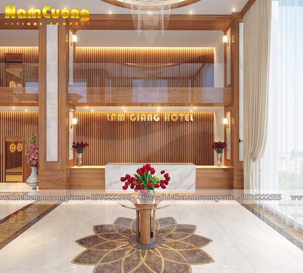 quầy lễ tân khách sạn