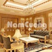 Thiết kế phòng khách 25m2 kiểu Pháp