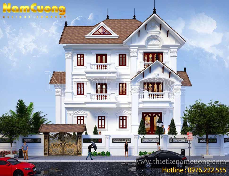 Mẫu thiết kế biệt thự tân cổ điển 3 tầng tại Quảng Bình