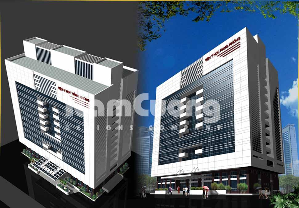 Mẫu thiết kế bệnh viện y học hiện đại đẹp mắt, sang trọng