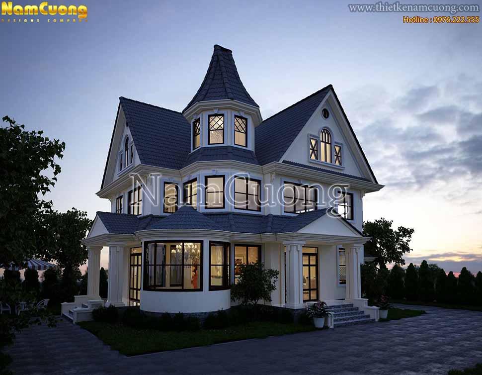 kiến trúc biệt thự mini 500 triệu