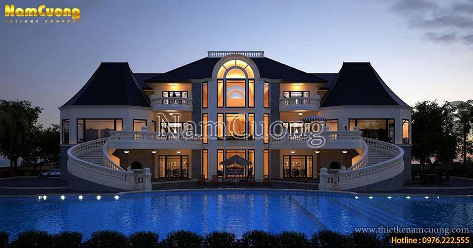 Thiết kế biệt thự có bể bơi kiểu châu đỉnh cao