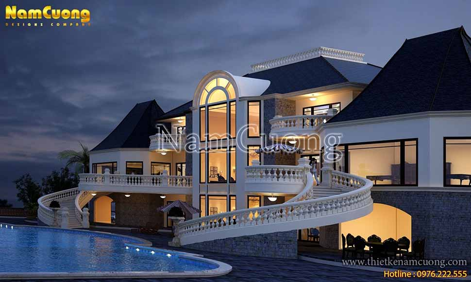 thiết kế biệt thự có bể bơi đẹp