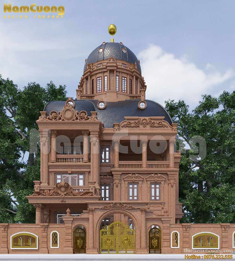 Mẫu thiết kế biệt thự kiểu lâu đài đẳng cấp