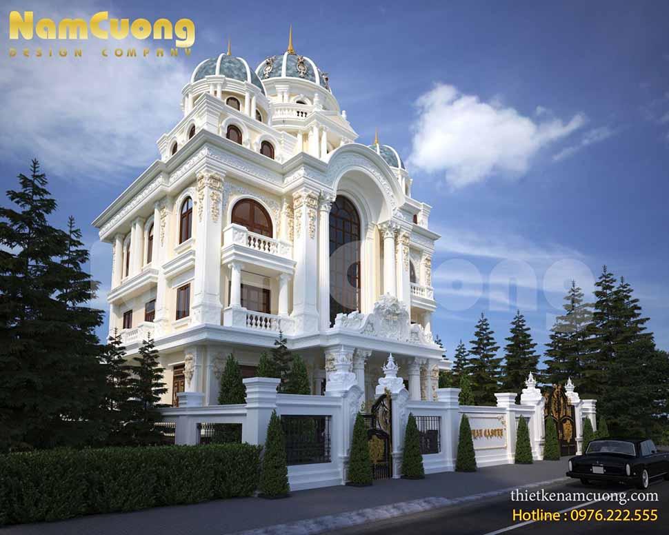 thiết kế biệt thự lâu đài pháp