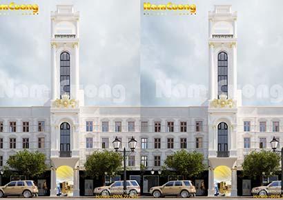 Thiết kế khách sạn 5x20m tân cổ điển sang trọng