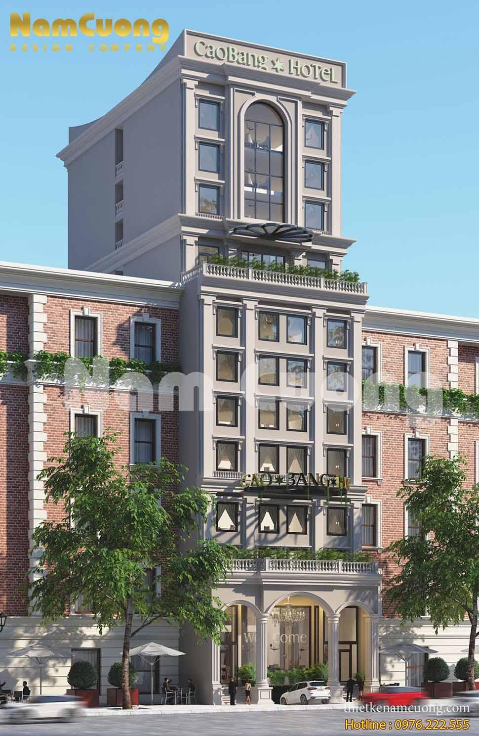 Khám phá kiến trúc thiết kế khách sạn mặt tiền 10m