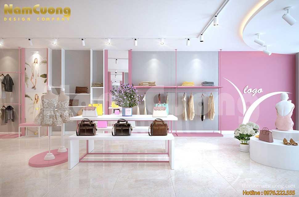 không gian shop thời trang