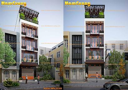 mẫu nhà phố 5 tầng mặt tiền 4m