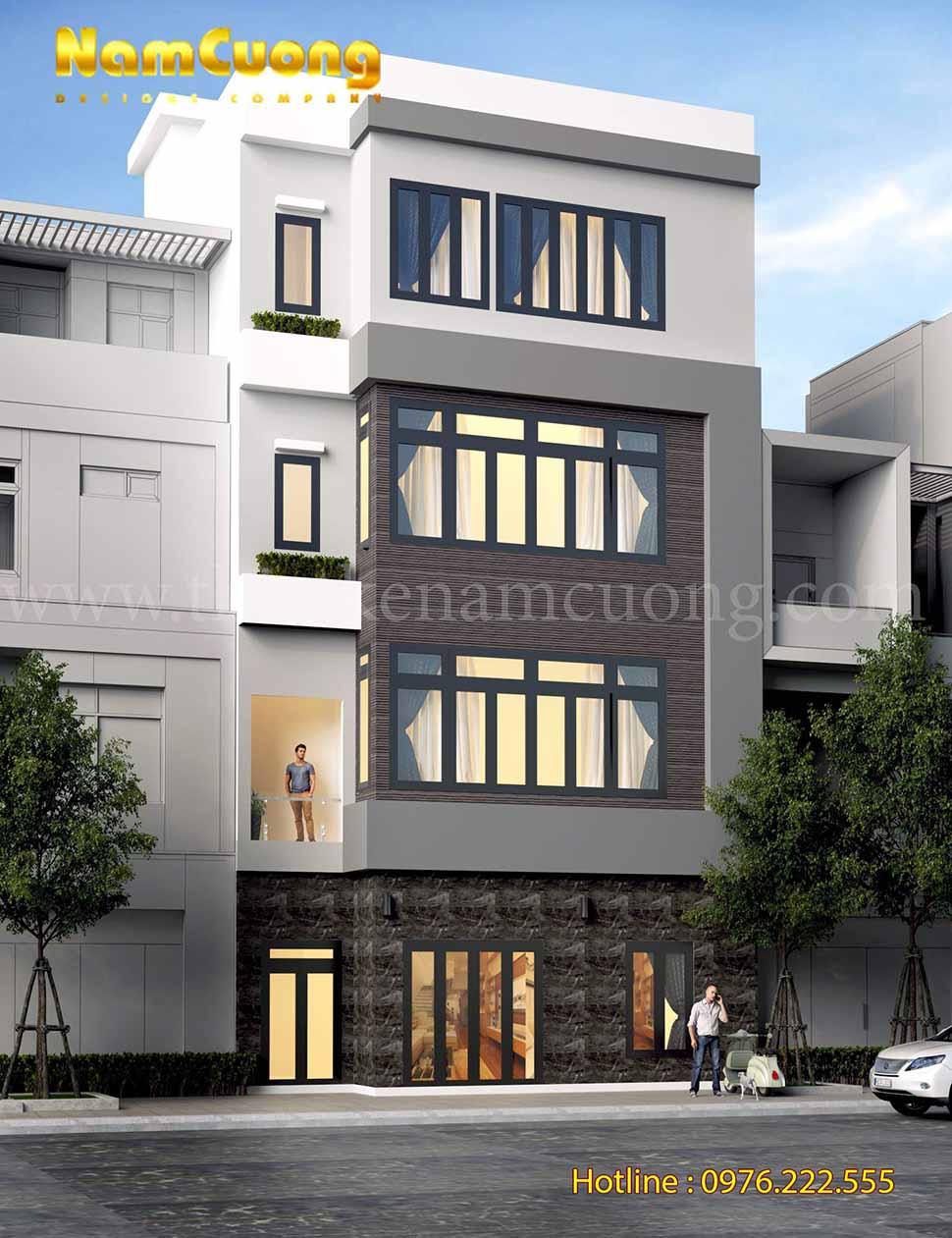 kiến trúc nhà phố mặt tiền 7m